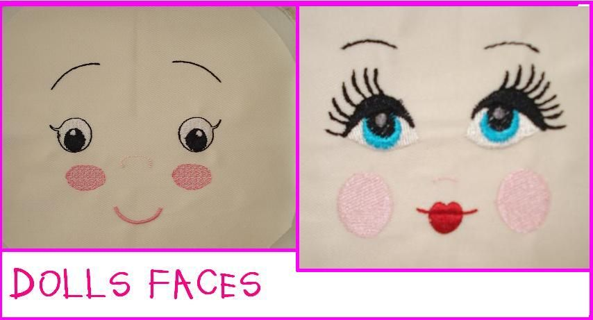 Free Embroidery Designs Cute Embroidery Designs Doll Face Doll Face Paint Cute Embroidery