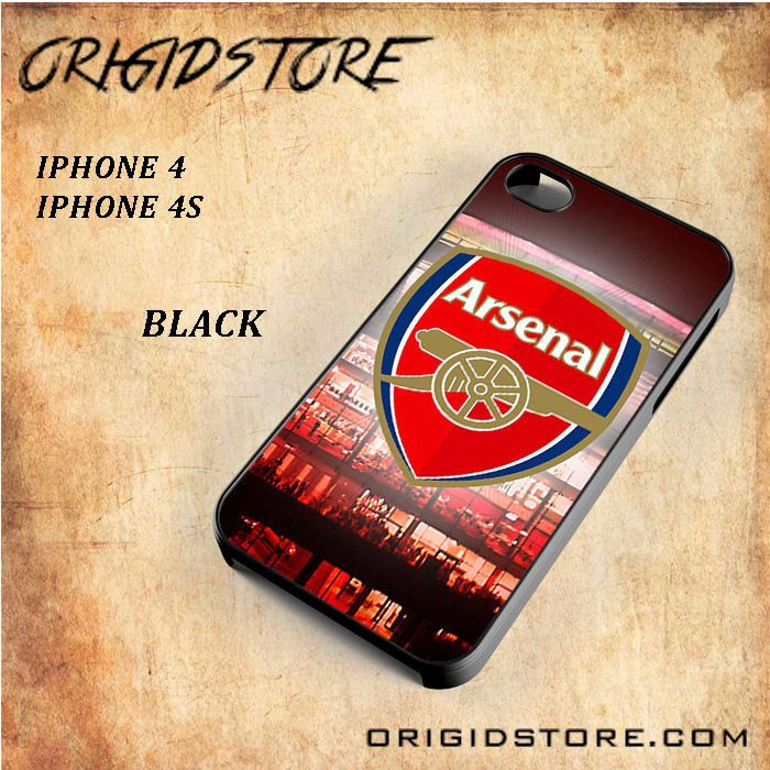 Arsenal Football Stadium Logo Black White Snap On 3D For Iphone 4/4S Case