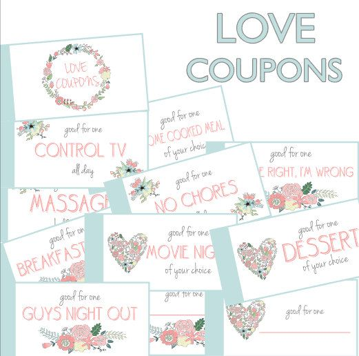 Love Coupon Book Coupons Anniversary Gift Printable Boyfriend H