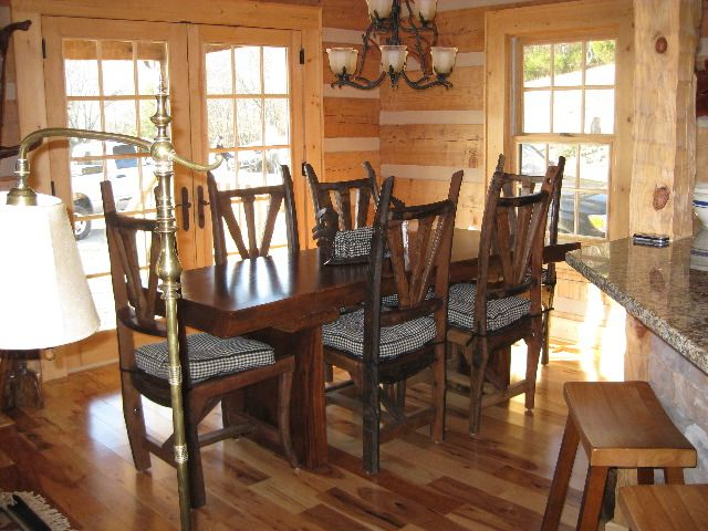 LogHome Dining Room #LogCabin | Dining & Breakfast Nooks | Pinterest ...