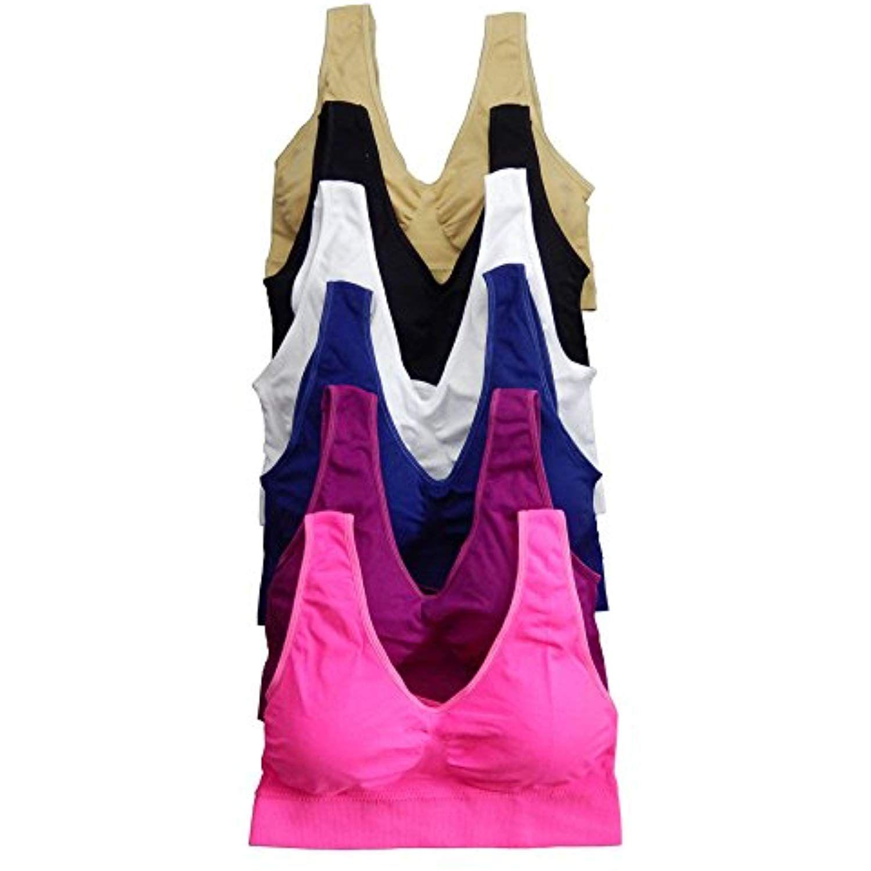 2d67e9aa27df2 Viola s Secret Women Bras 6 Packs Seamless Sports Bra   Click image to  review more details