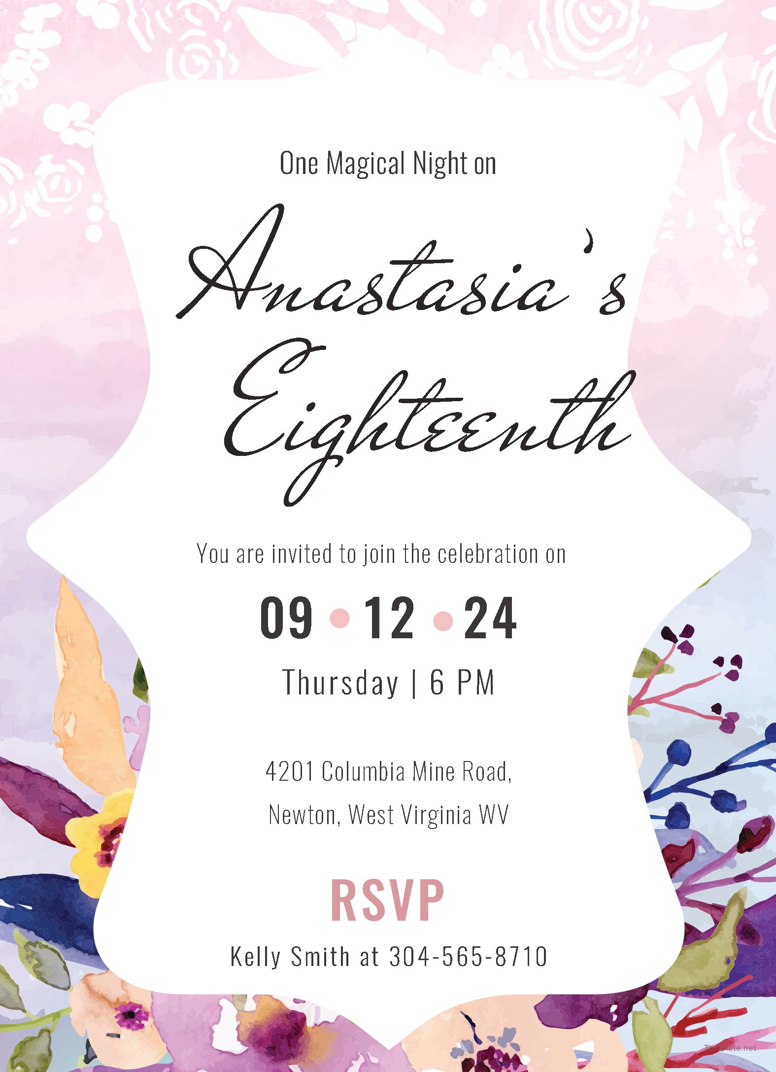 Pastel Debut Invitation Card Template Free Jpg Illustrator Word Outlook Apple Pages Psd Publisher Template Net Debut Invitation Invitation Layout Invitations