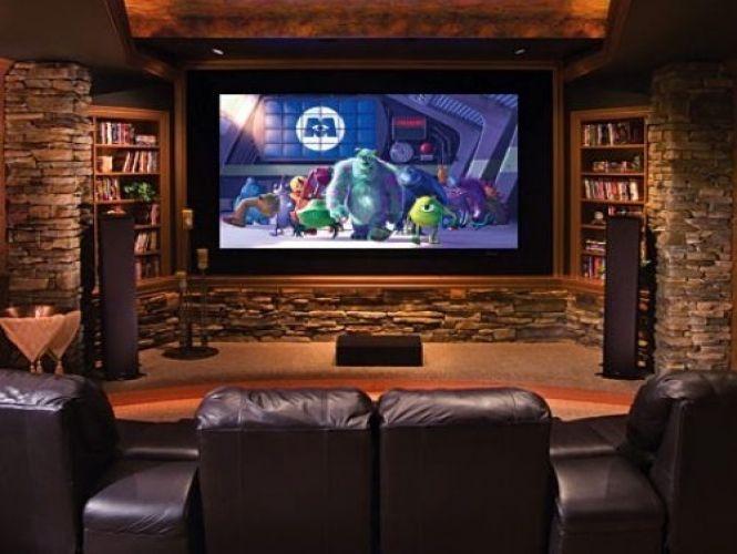 kleine beamer groot effect mancave pinterest tv en. Black Bedroom Furniture Sets. Home Design Ideas