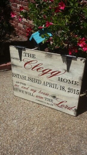 established home sign with added verse hand painted wooden signs designs by vena - Wood Sign Design Ideas