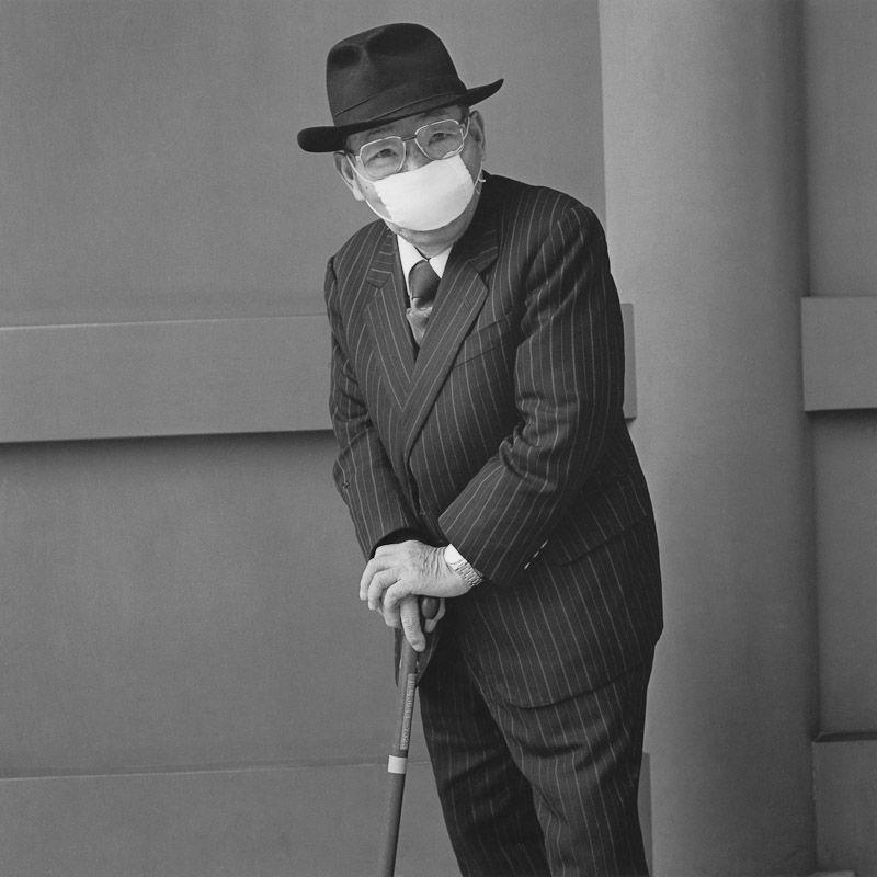 Hiroh Kikai. An older man with a penetrating gaze, 2001