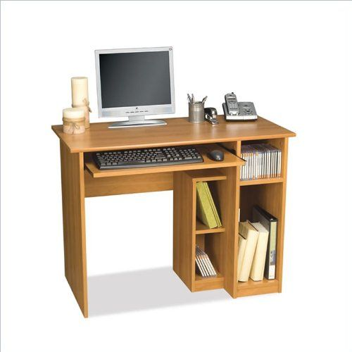 Computer Workstation W Desk Open Cubbies Basic Computer