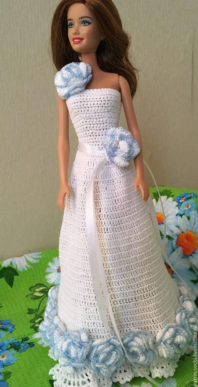 Купить Наряд для Барби - платье для куклы, Вязание крючком ...