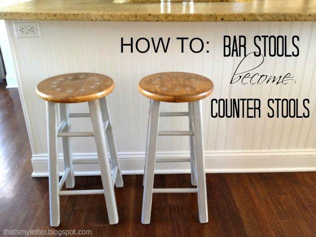 Diy Bar Stools To Counter