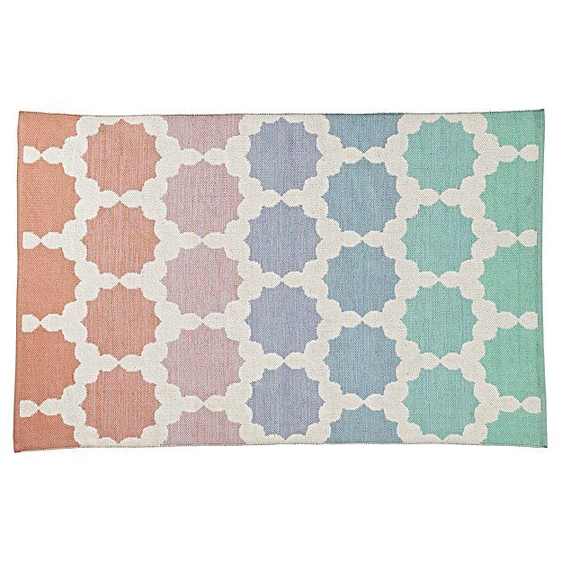 Starburst 5 X 8 Rug The Land Of Nod Ombre Rug Kids Rugs Rugs