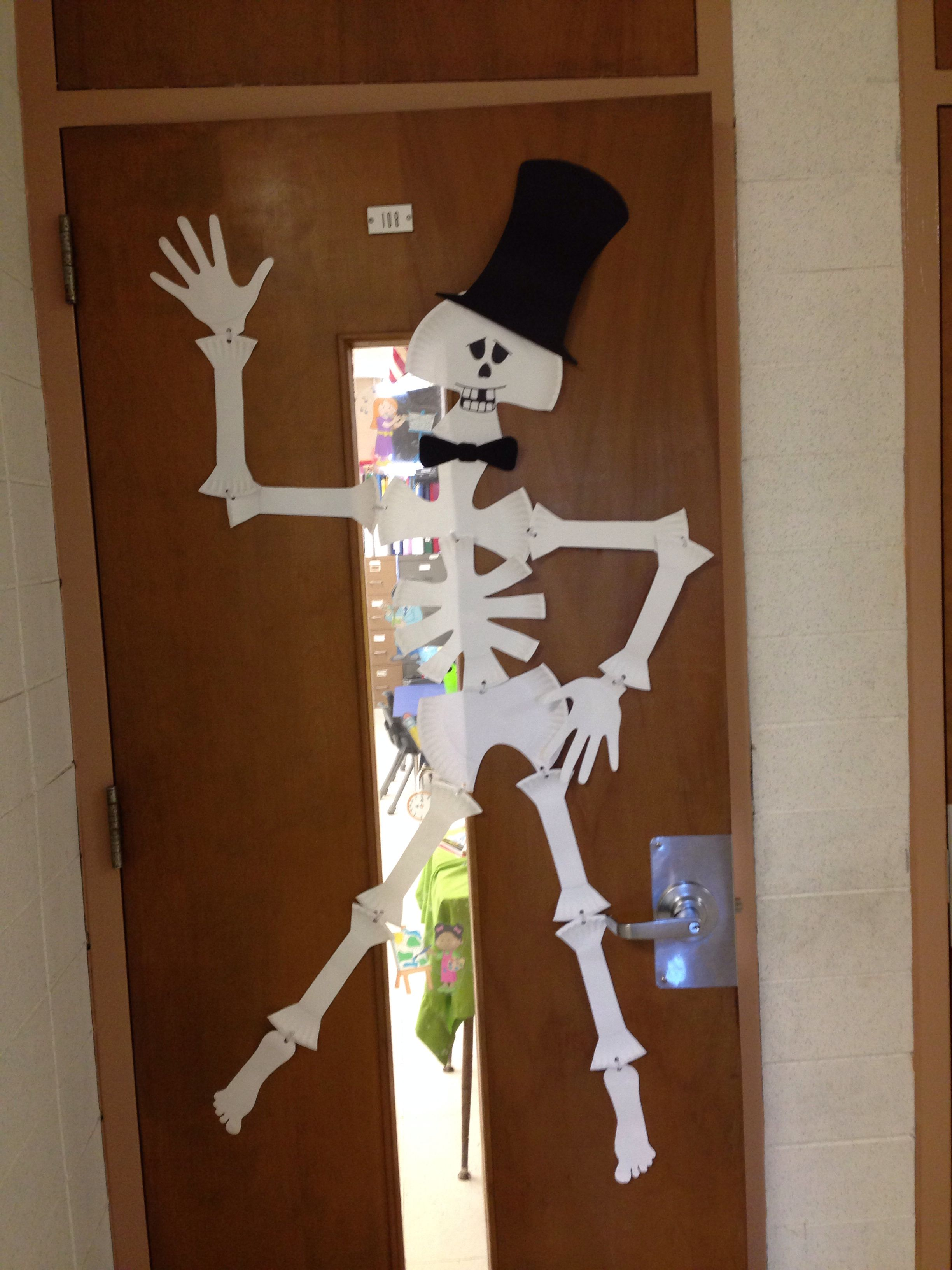 Skeleton Made From Paper Plates So Proud
