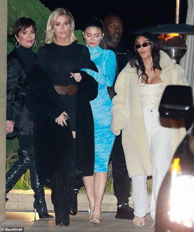 Kim Kardashian joined by Khloe and Kylie Jenner for family dinner