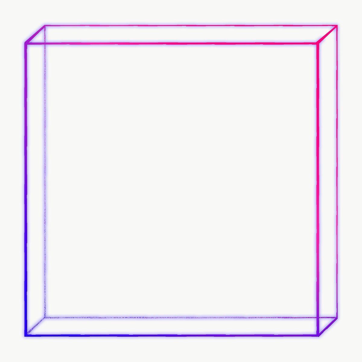3d Flat Cuboid Outline In Neon Purple Design Element Free Image By Rawpixel Com Sasi Purple Design Design Element Neon Purple