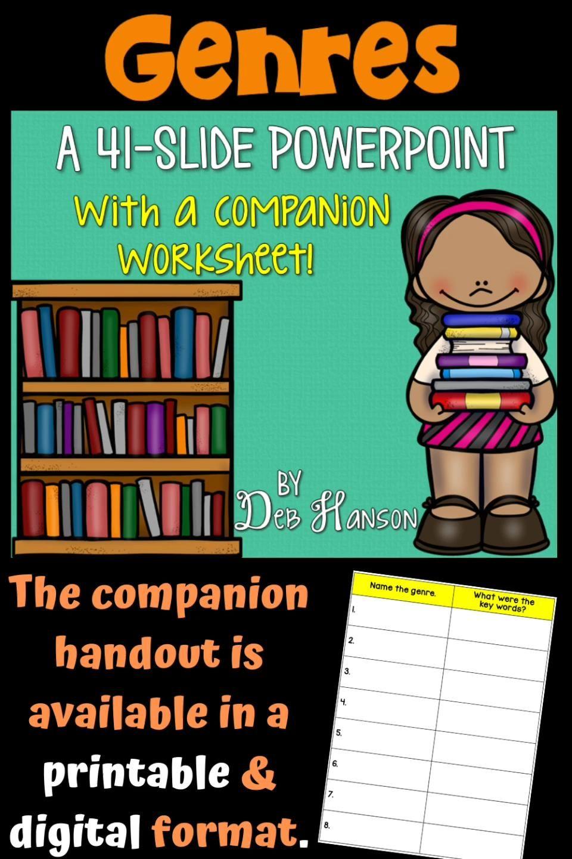 Genres Powerpoint Video Reading Comprehension Activities Comprehension Activities Third Grade Language Arts Activities