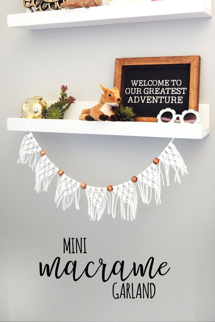How to Macrame a Mini Garland - Consumer Crafts