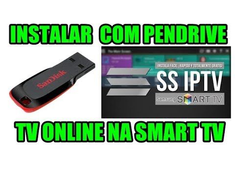 INSTALAR IPTV na Smart TV (Via Pendrive) | TV A CABO | Samsung