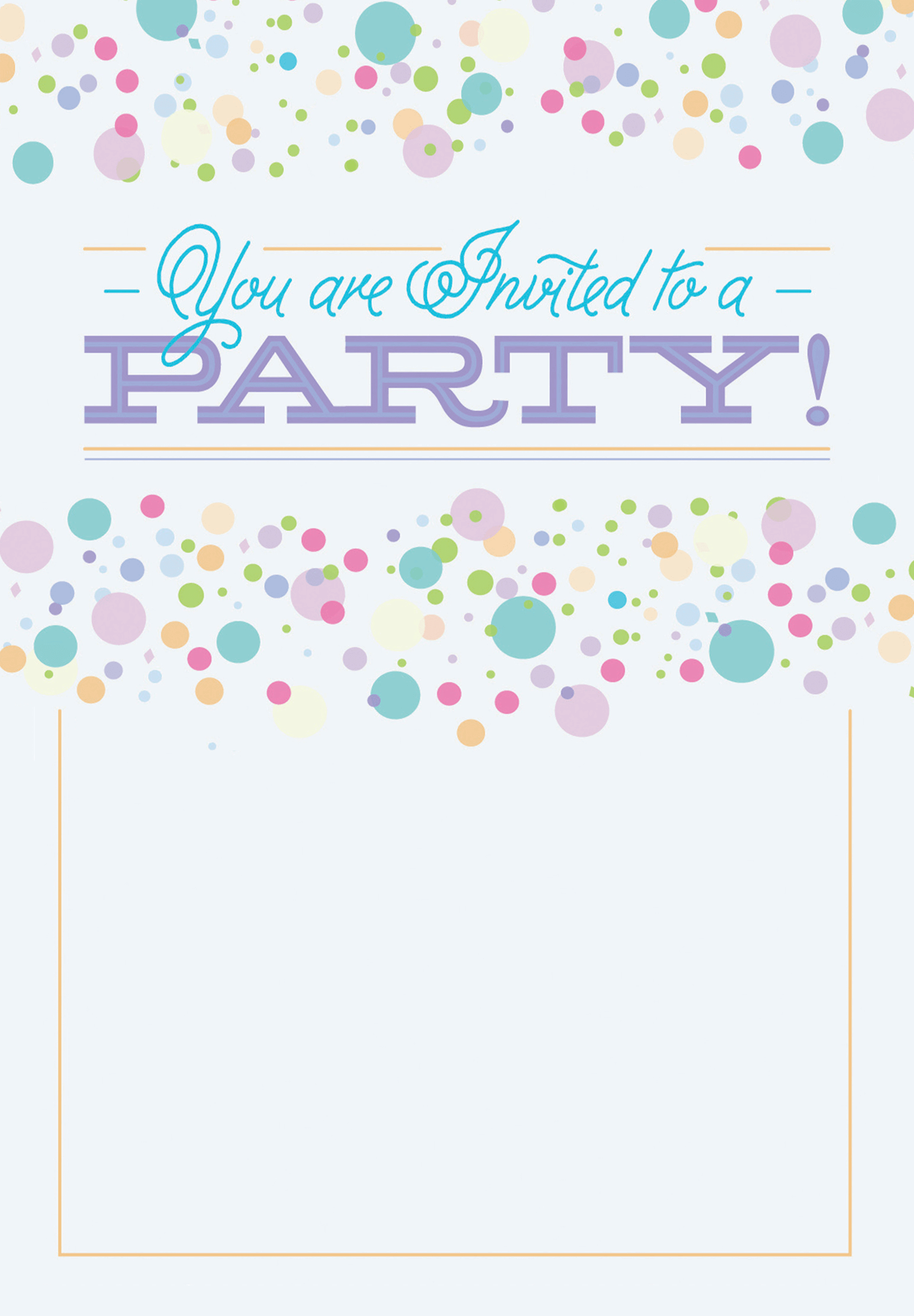 polka dots free printable party invitation template greetings