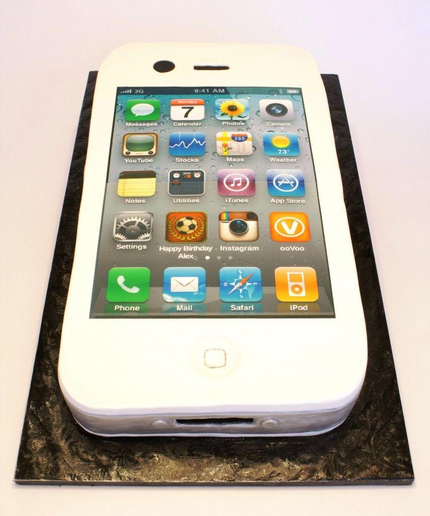 Iphone cake custom bday app Cake Deco Tutorials Pinterest