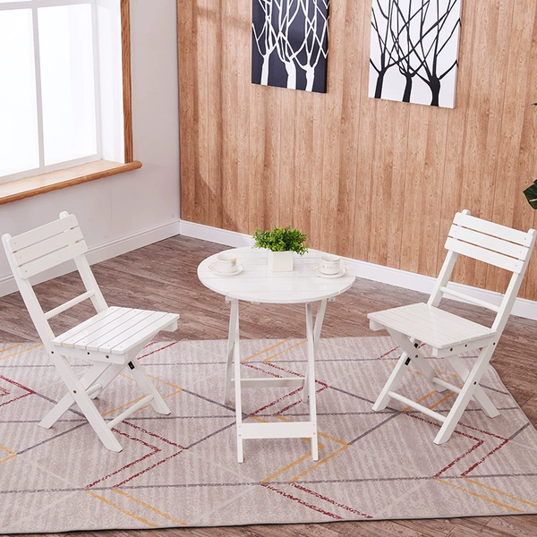 Buy Balcony Table And Chair Outdoor Solid Wood Three Piece Set Living Room Casual Small Chair Pa In 2020 Balcony Table And Chairs Outdoor Furniture Sets Outdoor Chairs