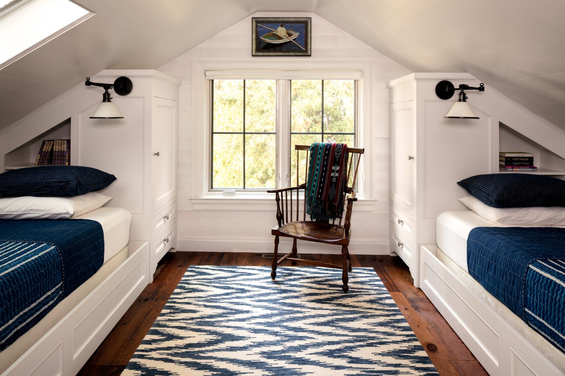 A Dusty Attic Becomes A Classic Cottage Bedroom
