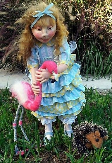 "*NEW* CLOTH ART DOLL PAPER PATTERN /""ALICE PLAYING CROQUET/"" BY SUZETTE RUGOLO"