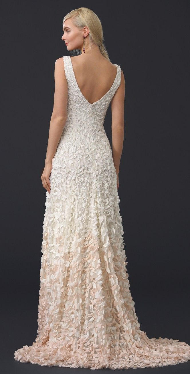 Theia emma embroidered petal gown shopbop wedding dresses