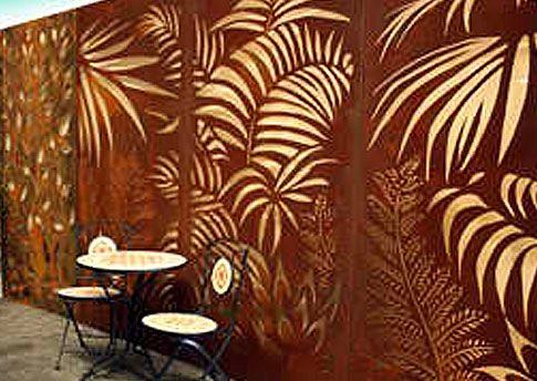 these type of tropical screens could also be used floor to ceiling on back areas of decorative screensdecorative metalbackyard - Decorative Metal Screen