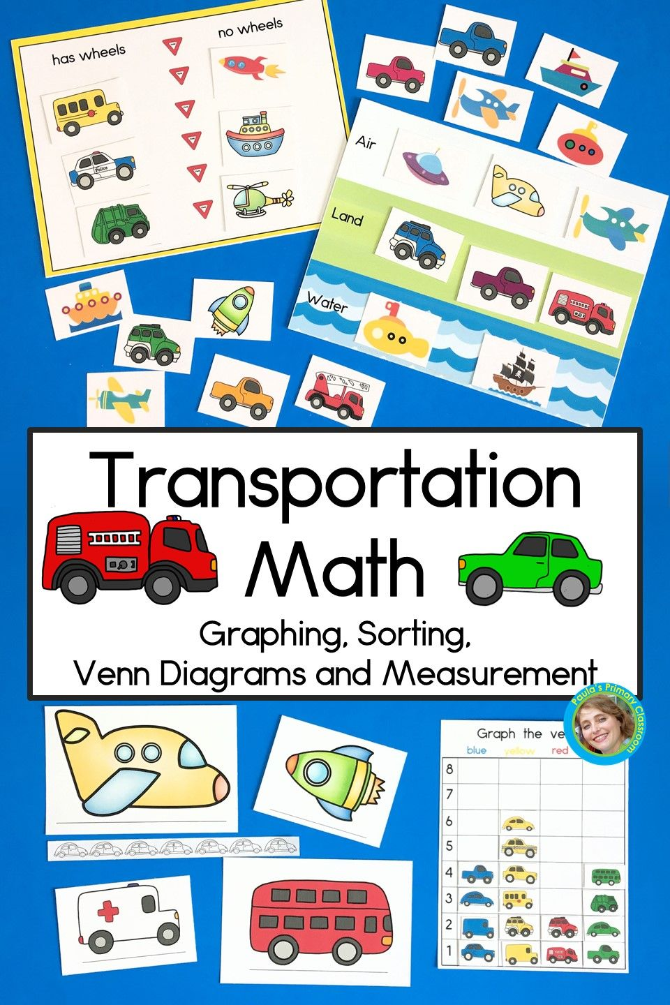 Transportation Math With Graphing Sorting Venn Diagrams And Measurement 1st Grade Math Worksheets 1st Grade Math Math Worksheets [ 1440 x 960 Pixel ]