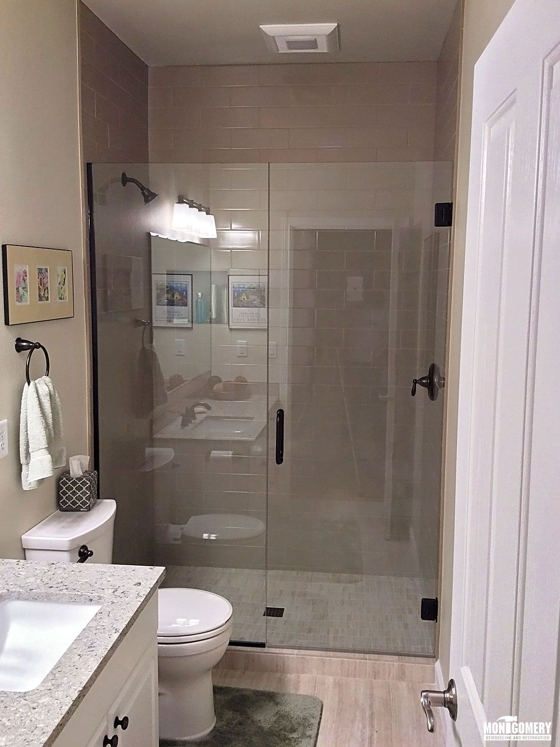 Multiple Bathroom Upgrades Montgomery Remodeling And Restoration - Small bathroom upgrades