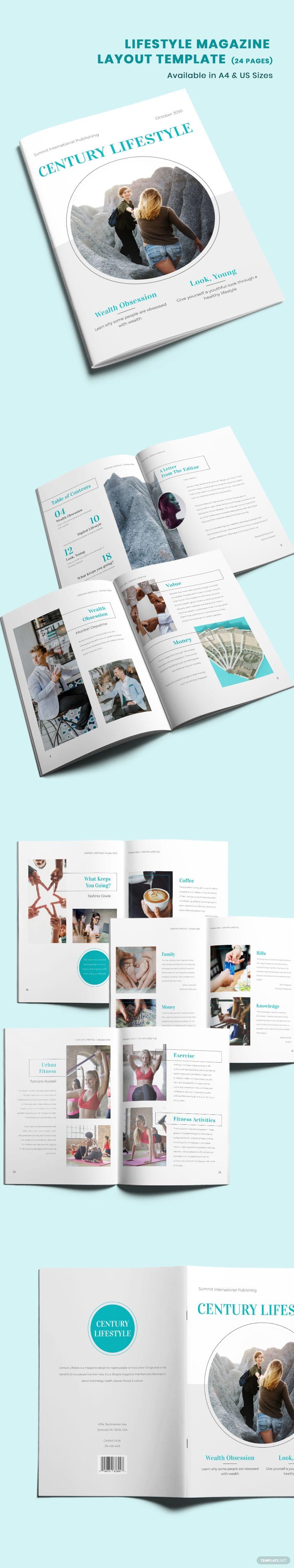 Lifestyle Magazine Layout Template #AD, , #Paid, #Magazine, #Lifestyle, #Template, #Layout