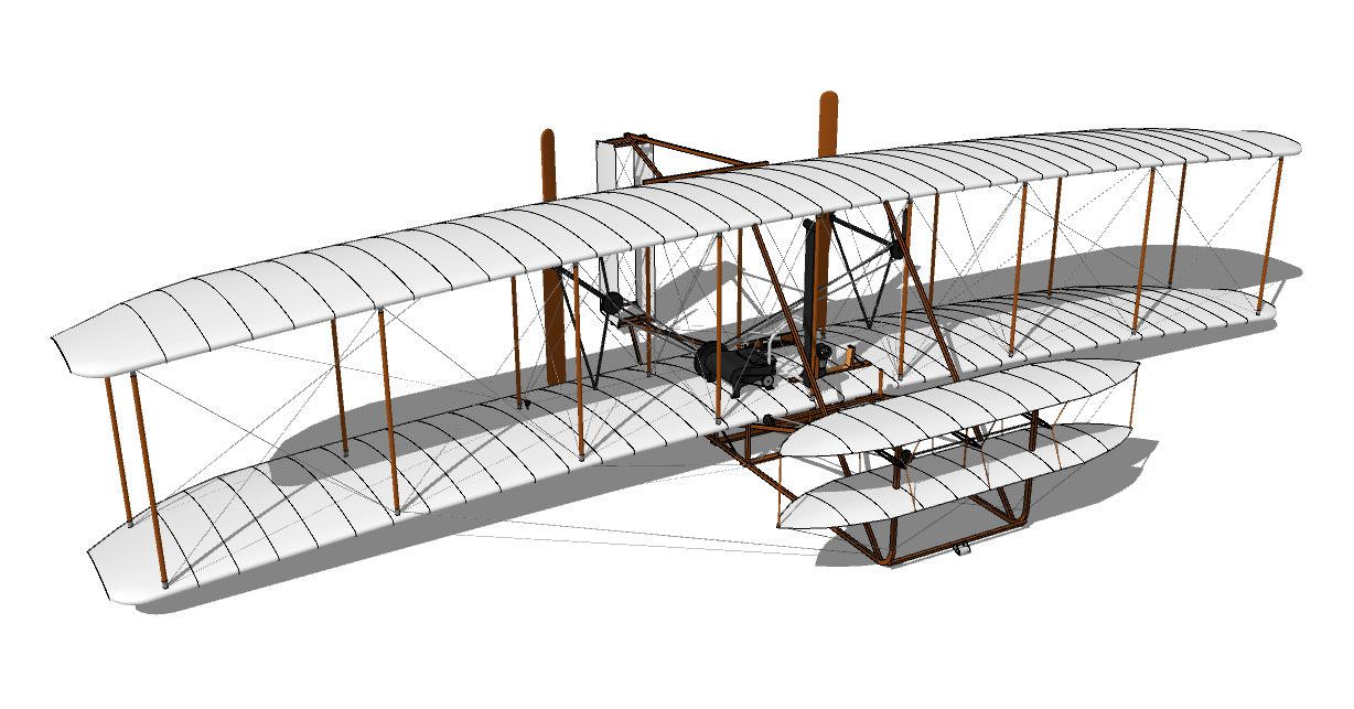 wright brothers 1903 flyer model instructions