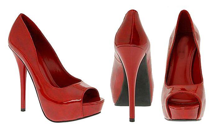Sexies zapatos rojos de plataforma/ Stilettos.