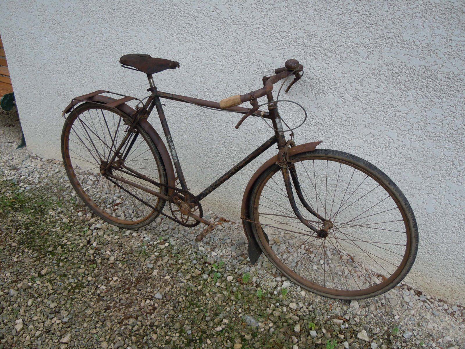 velo ancien alcyon vecchia bici altes fahrrad old bike. Black Bedroom Furniture Sets. Home Design Ideas