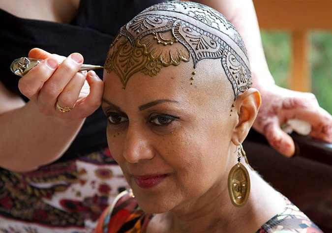 What's more beautiful than these henna tattoos? The reason they were made.