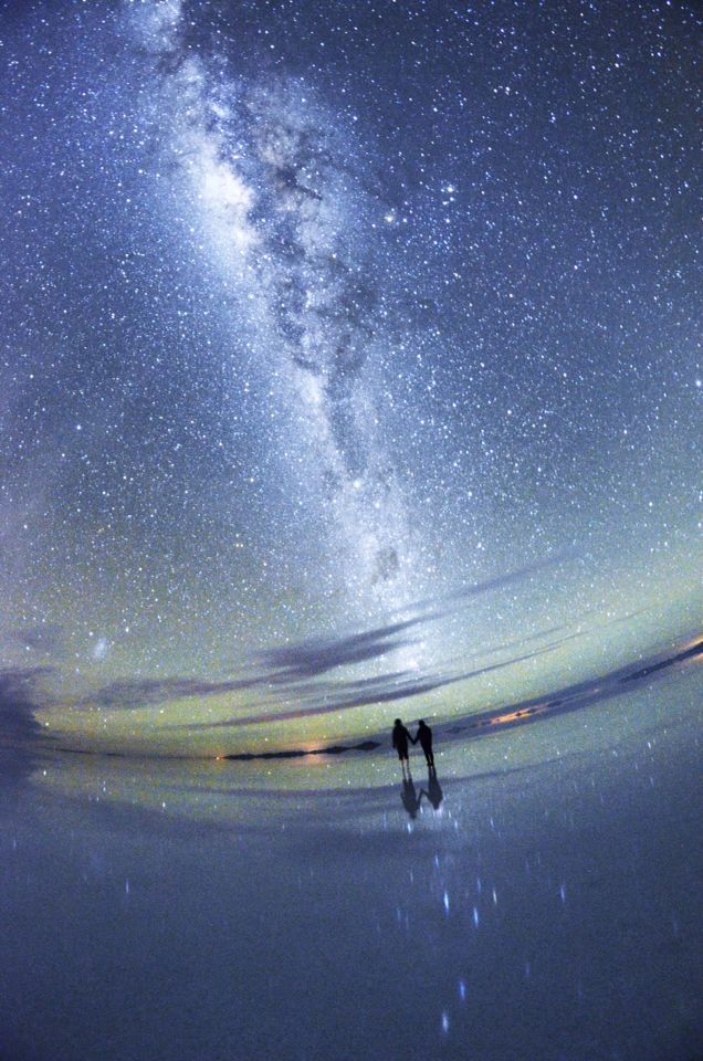 Bolivia Salar de Uyuni - Milky way. Me and my husband took it ourselves. This is one of most amazing picture that we've ever taken.