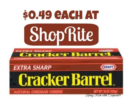 Cracker Barrel Cheese Only $0.49 at ShopRite! - http://www.livingrichwithcoupons.com/2014/04/cracker-barrel-cheese-0-49-shoprite-done.html