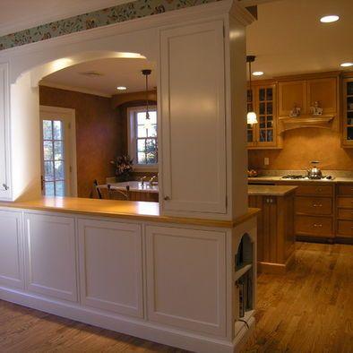 Spaces room divider ideas design pictures remodel decor - Kitchen and living room divider ...