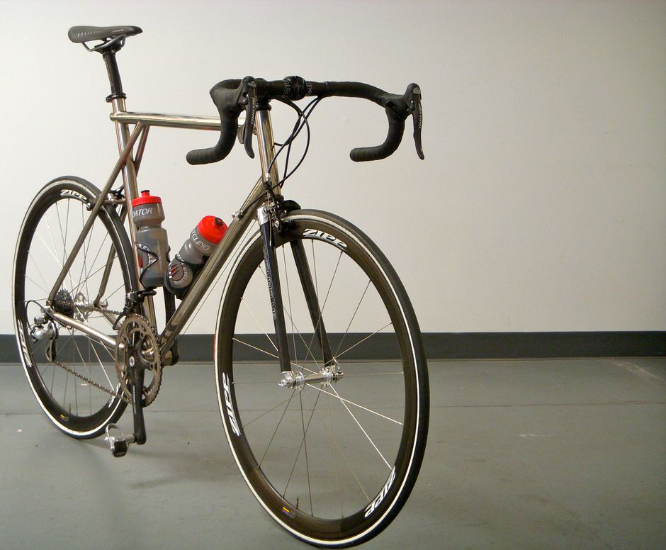 98 Gt Edge Titanium Road Bike W Wound Up Carbon Composite Road X