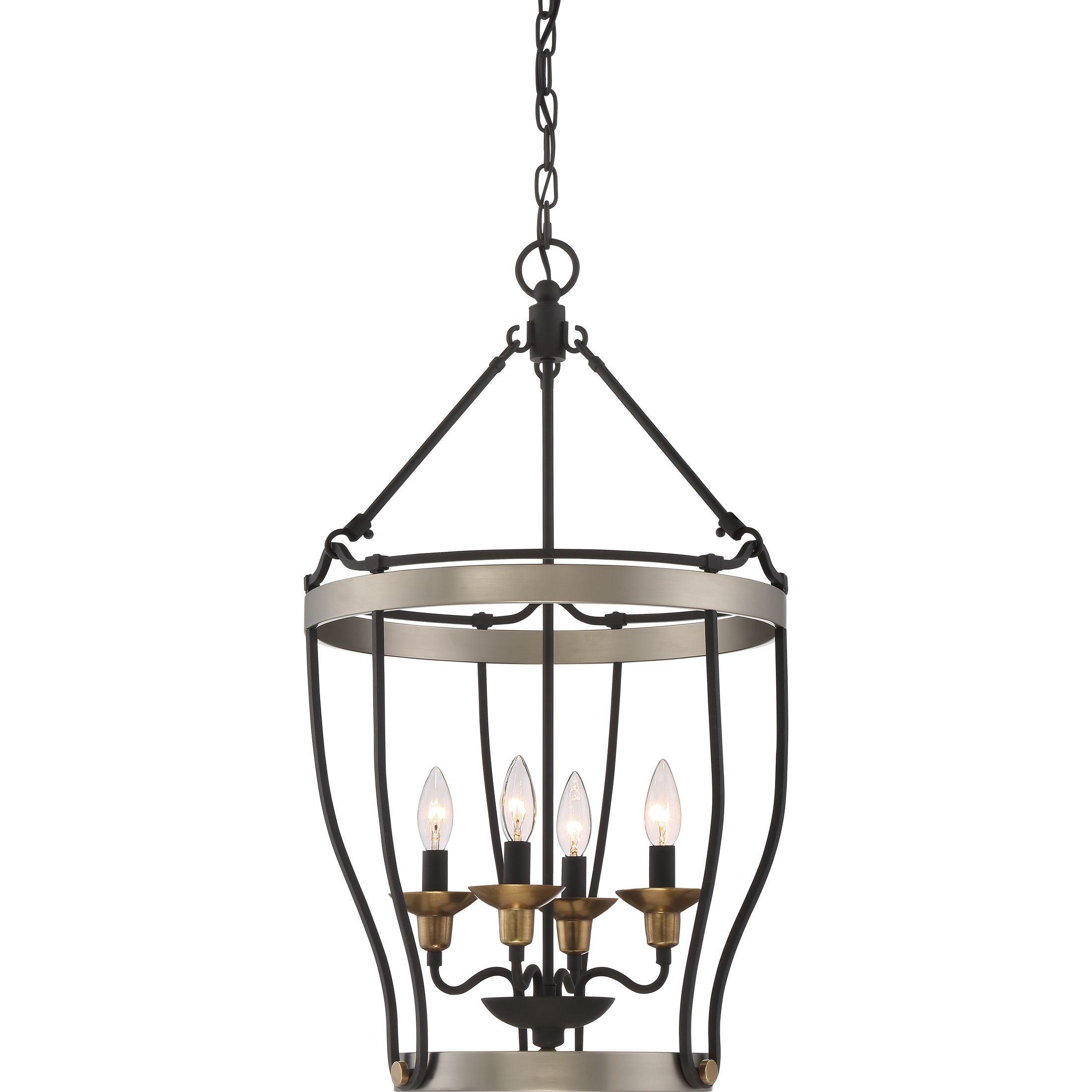 Quoizel CTH5204AN Foyer 4 lgt antique nickel The Castle Hill