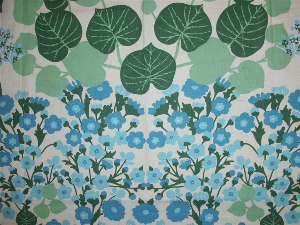 RETRO! Blommigt i blått - TYG   TEXTIL - 70-tal !!  6c466babb0443