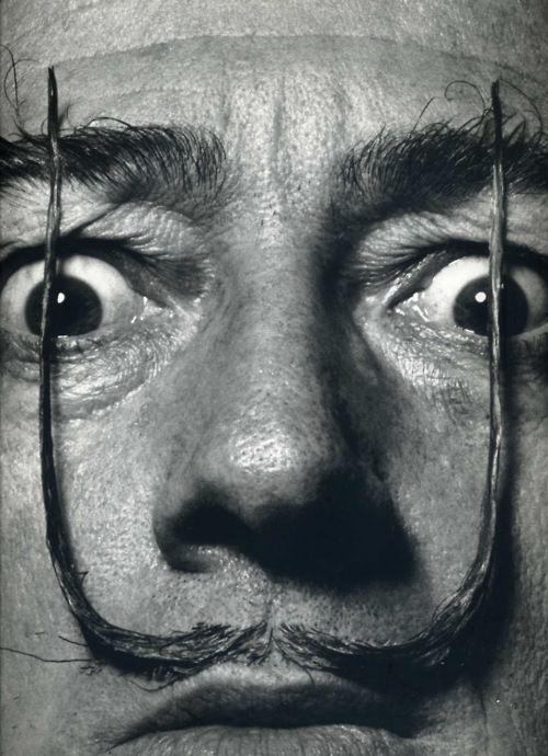 El bigote de Dalí por Philippe Halsman