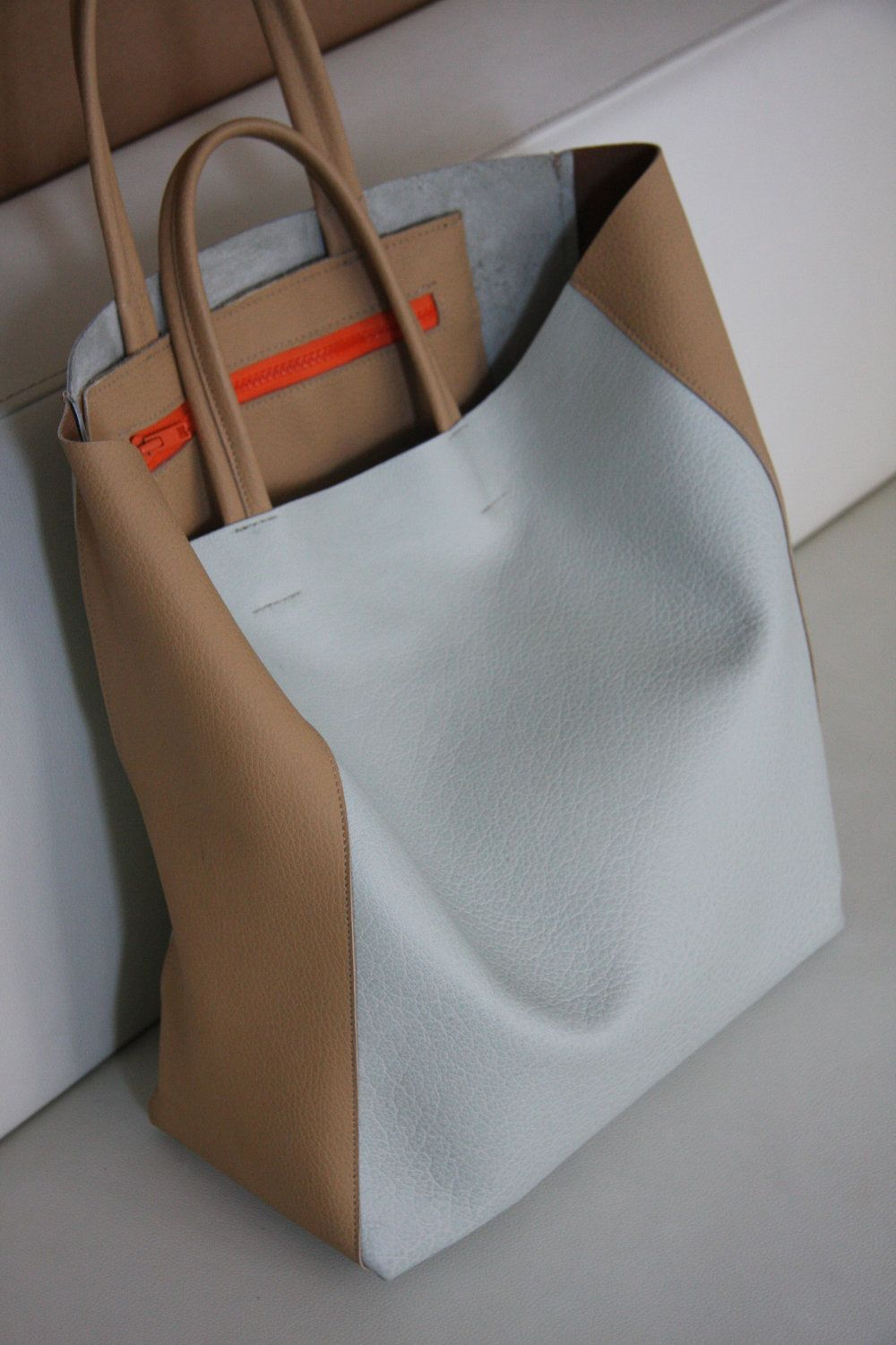 leather tote by tissuhandbags on etsy bags pinterest