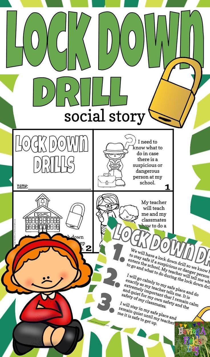 Lock Down Drill Social Story Mini Book Set Social