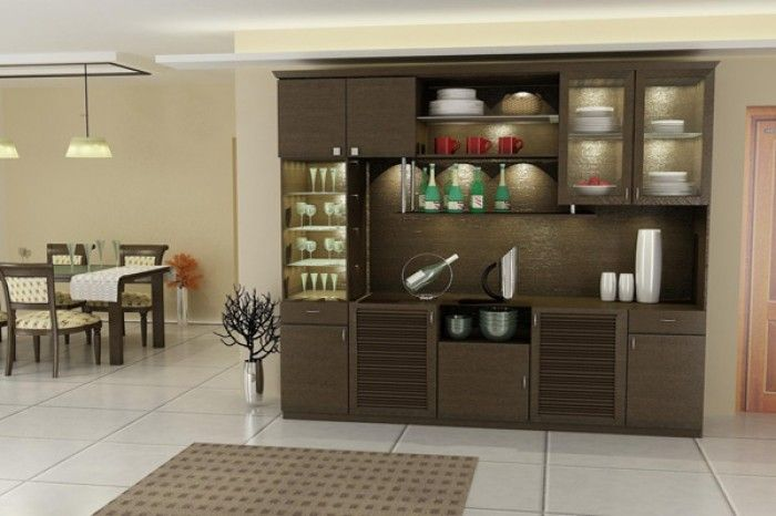 Excellent Crockery Cabinet Designs Dining Room 12