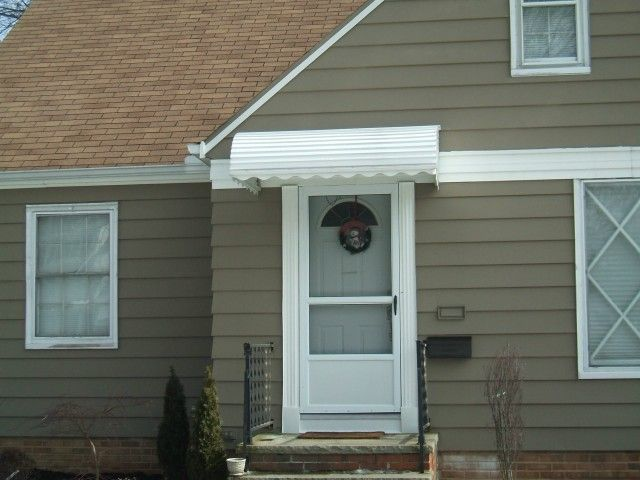 Over The Door Awning Project By Fairview Home Improvement In Cleveland Ohio