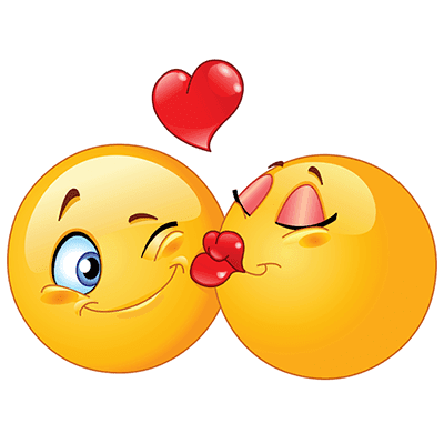 Send these lovely kissing emojis in your chat and messages.