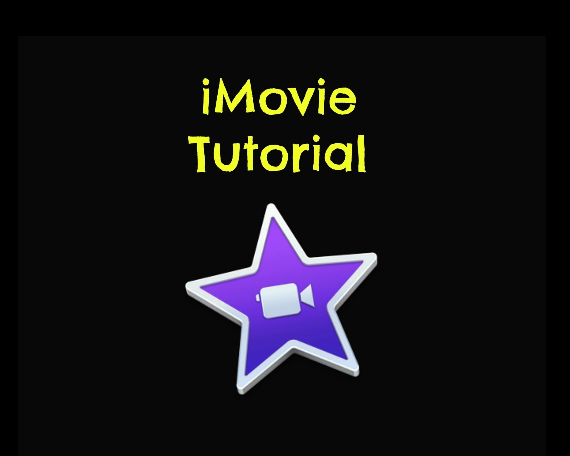 Creating a video in imovie tutorial make a video