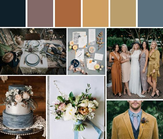 paleta color boda otoño invierno pantone