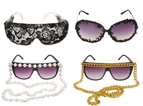 Kerin Rose Sunglasses have a unique, fun look.