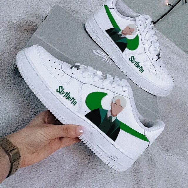 Slytherin Nike Air force 1 in 2021 | Harry potter shoes, Harry ...
