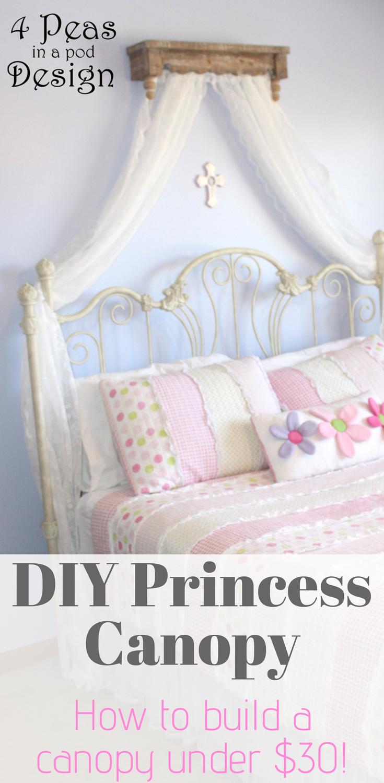 Diy Princess Canopy Under 30 Crafts Girls Bedroom Little Girl Bedroom Home Decor Child S Room Little Girls Kid Room Decor Princess Canopy Princess Diy